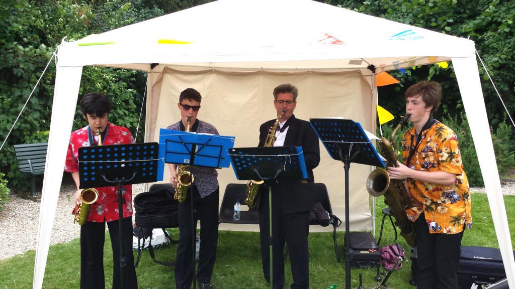 Pure Sax in Jubilee Gardens Saffron Walden 21 June 2015 1500x844